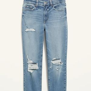 Ribbed Distressed Jeans